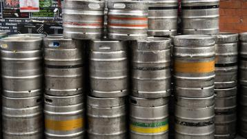 Thief makes off with full keg from outside Limerick pub