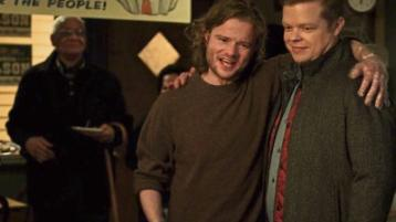 Theo and Foggy: Peter Halpin in Marvel's Daredevil which is currently on Netflix, as Theo Nelson with his 'brother' Foggy, played by actor Elden Henson