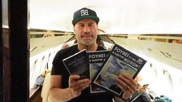 Thanks! John Travolta on his plane with the books from Foynes Flying Boat Museum