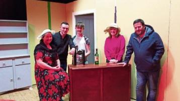 Trish Curtin, Darragh O'Donnell, Jack Quinlivan, Dolores Broderick, Dan Moloney in a scene from The Chastitute
