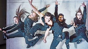 Ravenous, part of the Step Up dance project, is performed by Sarah Greene, Celina Jaffe, Niamh Kelly, Oran Leong and Bianca Paige Smith Picture: Maurice Gunning