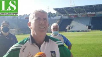 WATCH: Limerick manager John Kiely's reaction to dramatic Munster SHC final win