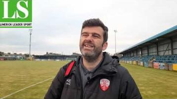 WATCH: Manager Tommy Barrett's reaction as Treaty Utd go second in First Division