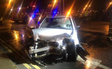 Ambulance at scene of double-vehicle collision in Limerick