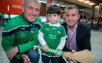 Boston bound Limerick hurling stars turn heads at Shannon Airport