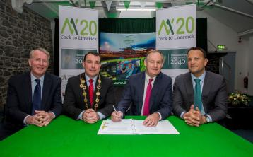 WATCH: Contracts signed to progress M20  Cork - Limerick motorway