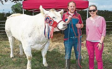 Shane Giltenane and Joanne Looney with 'The Twin', Overall  Show Champion last year