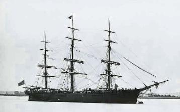 Emigrants to Australia had to travel the whole way across the world on ships such as these
