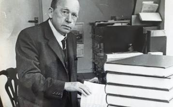 Richard Hayes at his day job of  director of the National Library