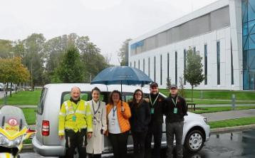 Regeneron made the donation of the caddy to Blood Bike Mid-West