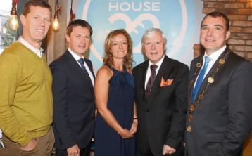 John and Francis Brennan with Michael Tracey, Sheelagh Tracey and Mayor James Collins at the official opening of Bakehouse 22