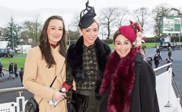The style stakes were high at Limerick Racecourse for the Sunway Holidays Most Stylish Lady Competition, pictured are Audrey Mitchell, Newport, Carita Conway, Castleconnell, winner, and Therese Conway