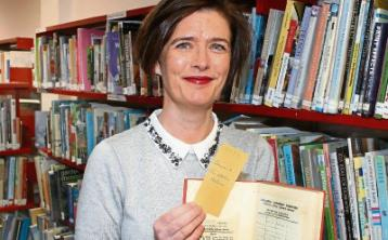 Librarian Marie Stakelum with the returned book Picture:Adrian Butler