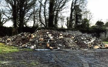 A photo taken by a member of the public of the material in a 'secure location' in Friarstown