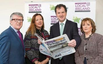 Backing: Johnny O'Hanlon, Local Ireland, Jenny Fisher, Premier Lotteries, Frank Mulrennan, president Local Ireland and Kate Shanahan, TU Dublin lecturer