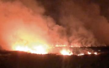 WATCH: Limerick fire crews attend scene of gorse fire