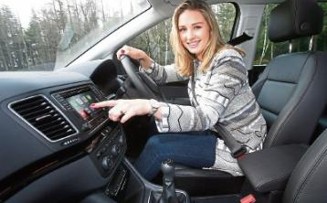 Anna Daly drives away in her new Seat Alhambra