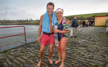 Togging out for Limerick: Dominic West ready to take part in Glin swim