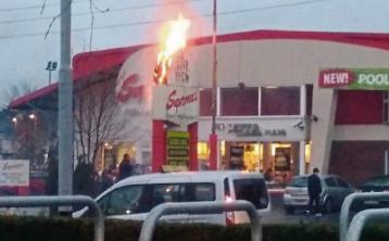 Limerick crews tackle sign fire at Supermac's drive-thru