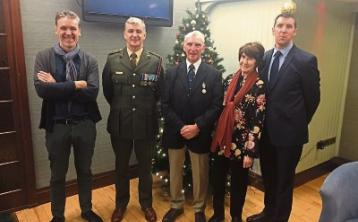 The Carey family at the ceremony: Declan, Col Paul Carey, Noel, Angela and Ronan