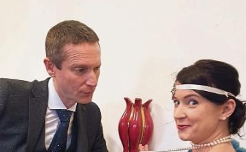Jim Moroney and Miriam Ball rehearsing for the comedy