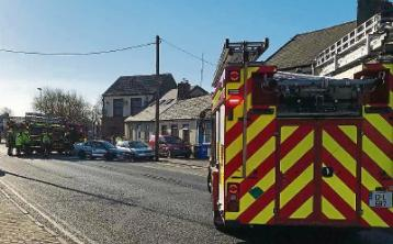Emergency services respond to two-car collision in Limerick