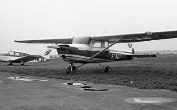 Limerick Flying Club members' planes pictured at Coonagh Airfield in October 1971