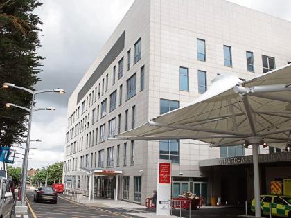 Nurses leaving emergency ward at University Hospital