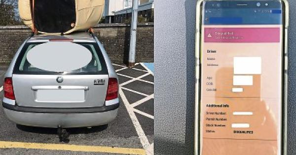 Limerick driver with armchair strapped to car roof is in ...