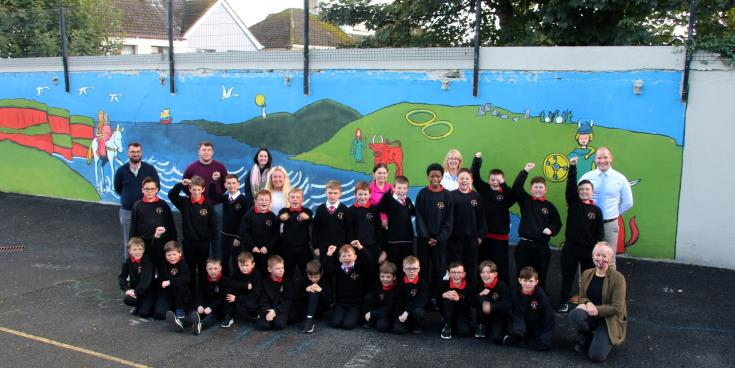 Limerick primary school painting a message of positivity