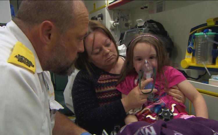 WATCH: Limerick girl suffers acute allergic reaction on TV3's Ireland's Paramedics