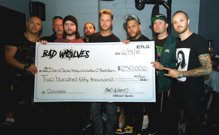 WATCH:  Bad Wolves donate $250k to Dolores O'Riordan's kids after Zombie cover success