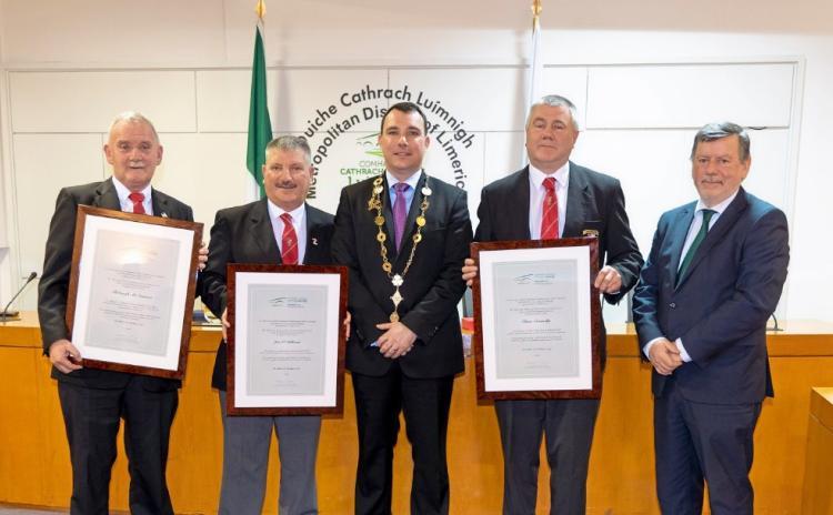SLIDESHOW: Limerick Mayor honours Geraldines AFC stalwarts