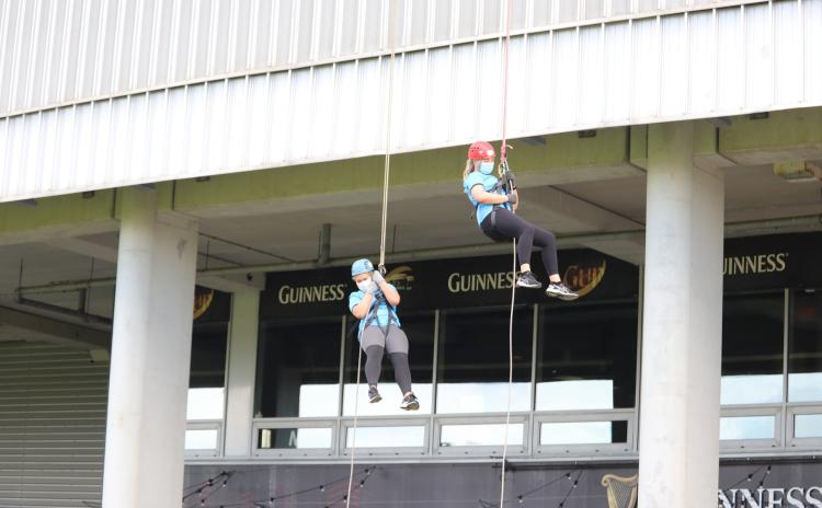WATCH: Thomond Park abseil raises vital funds for Down Syndrome Limerick