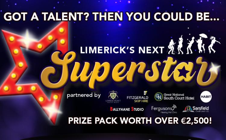 Terms and conditions for Limerick's Next Superstar talent competition