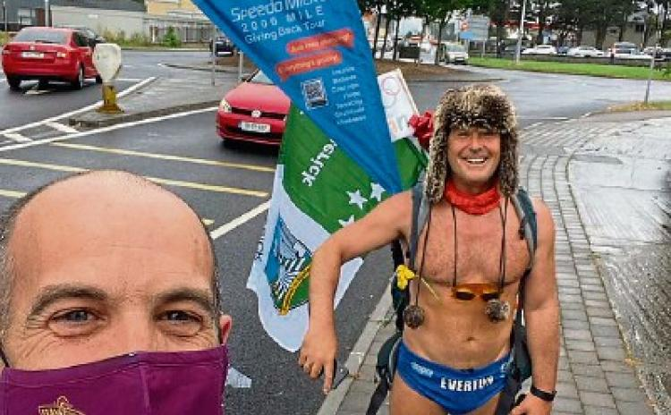 WATCH: Charity hero SpeedoMick hits Limerick as part of2,200-mile tour