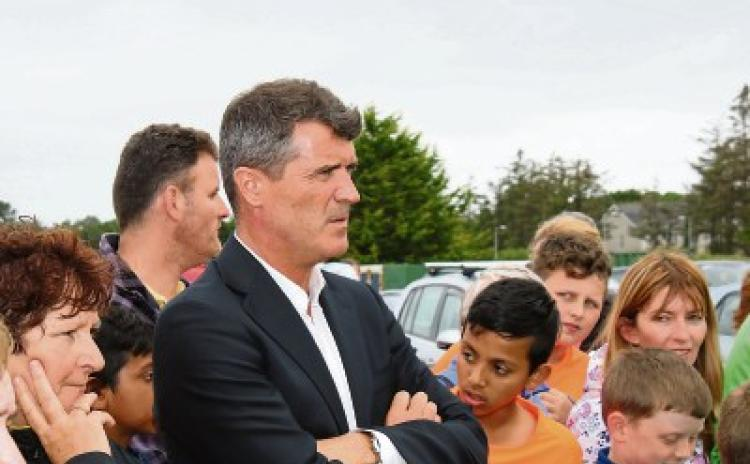 WATCH: Roy Keane remains tight-lipped on Premier League during Limerick visit