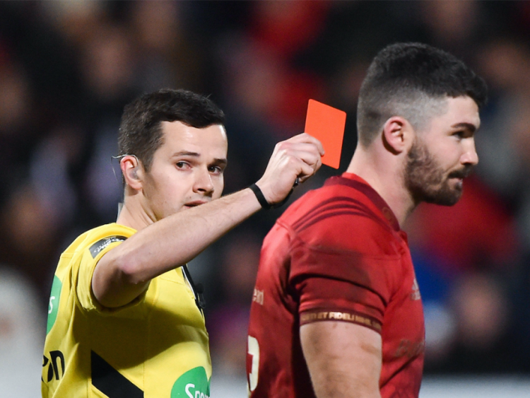 Munster's Sammy Arnold Sent Off For Dangerous High Tackle Against Ulster