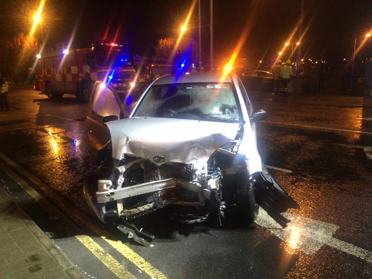 Ambulance at scene of double-vehicle collision in Limerick ...