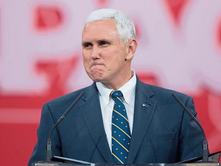 Donald Trump's vice president, Mike Pence to arrive today?