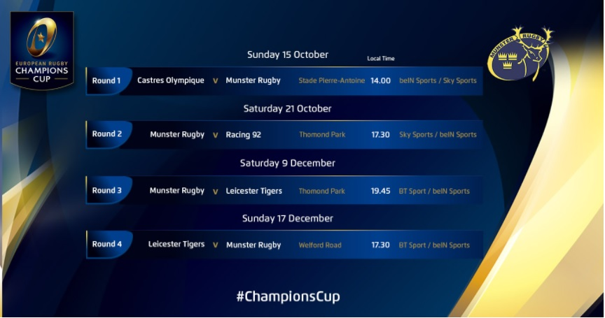 Champions Cup: Ulster to host Wasps in European opener