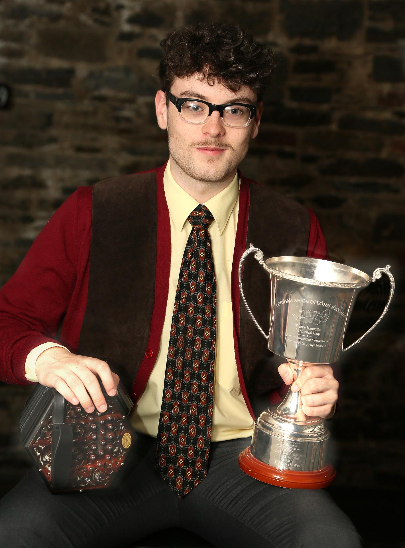 Sárán Mulligan C.C.É. Dún Dealgan winner of the senior concertina competition at  Fleadh Cheoil na hÉireann in Drogheda