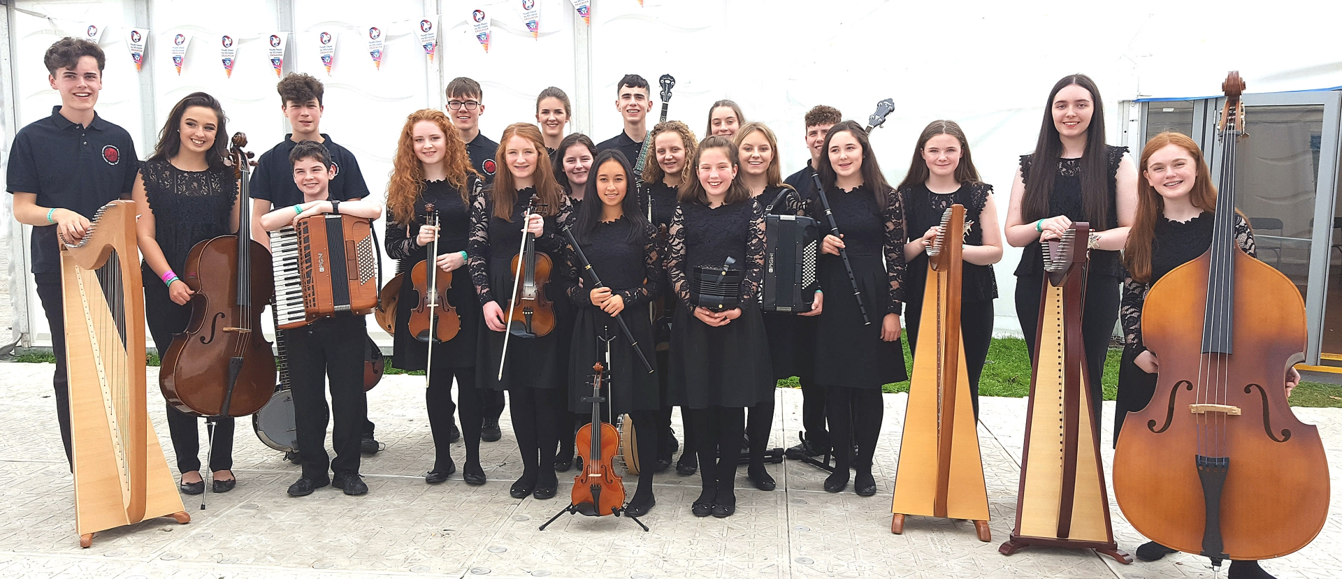 Members of  C.C.É. Dún Dealgan Group  awarded 3 place in the 15-18 group competition at Fleadh Cheoil na hÉireann in Droghed